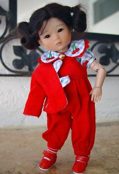 """https://flic.kr/p/qiTuQP   Ten Ping 9   Ten Ping 8"""" bjd by Ruby Red Galleria, outfit by Little Charmers Doll Designs"""