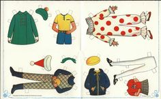 ✄ #Paper dolls......Betsy and Linda McCall sendaway clothes