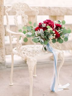 Photography: Mint Photography - mymintphotography.com  Read More: http://www.stylemepretty.com/2015/02/06/romantic-cranberry-dusty-blue-wedding-inspiration/