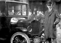 Henry Ford visits the mountains of Hazard, Kentucky.  Late 20's.