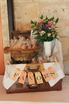 Ranch wedding rehearsal dinner.   Uptown Blanco Restaurant.  Blanco, Texas.  Favors for the guests.