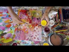 abstract art on paper - process - step-by-step tutorial - YouTube