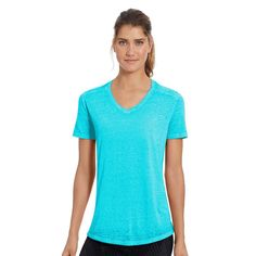 Women's Champion Sugar Wash Boyfriend Tee, Size: Medium, Turquoise/Blue (Turq/Aqua)