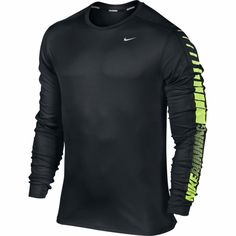 NIKE RELAY LS GRAPHIC CREW