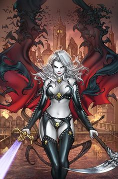 Lady Death by Paolo Pantalena, colours by Ula Mos *