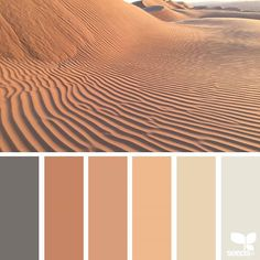 { color wander } image via: The post Color Wander appeared first on Design Seeds. Design Seeds, Color Palate, Neutral Colour Palette, Green Design, Orange Design, Palette Design, Pintura Exterior, Desert Colors, Colour Board