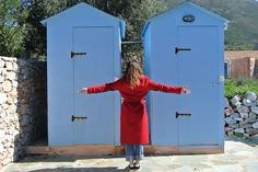 Red and blue. Lockers, Red And Blue, Locker Storage, Travel, Furniture, Home Decor, Viajes, Red And Teal, Traveling