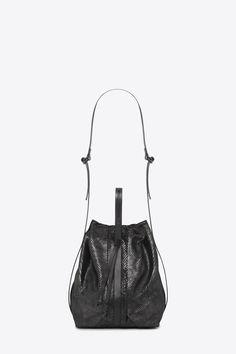The Beat Bucket Bag Serpentine Black