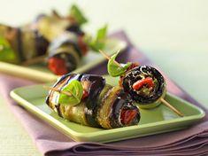 Découvrez la recette Roulades d'aubergines à la mozzarella sur cuisineactuelle.fr.