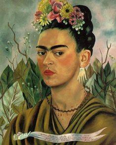 "26.8 mil Me gusta, 74 comentarios - Frida Kahlo (@fridakahlo) en Instagram: """"Autorretrato dedicado al Dr. Eloesser"" (1940) #FridaKahlo #Art #Painting #Painter #Artist #México"""