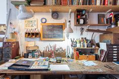 Credit: Nicholas Calcott Jeffers' studio, in nearby Cobble Hill. It enables him and Suzanne to cut off from work at home where they gather in the kitchen with friends, or head down to the boardwalk that looks out on the spectacular Manhattan skyline.