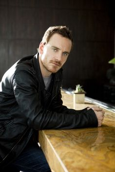 Michael Fassbender. If I saw a guy sitting across the bar from me looking like this I would have to get up and leave. He's just too hot.