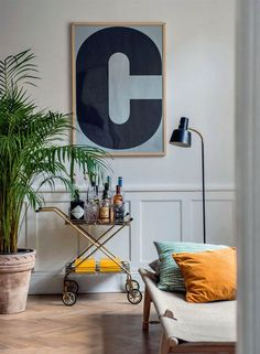 design attractor: Swedish apartment with a touch of eclectic decor