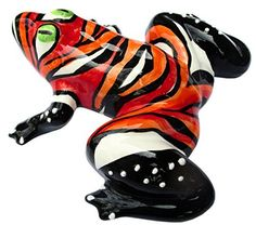 Miss Fire Frog!  Hand painted ceramic frog from Spain