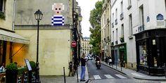 #Picasso #Street #Art im #Space Invader Stil, gesehen in #Paris © Gudrun Krinzinger