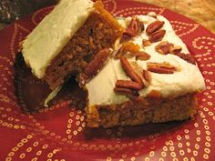 I was craving one of these moist cakelike bars and a frothy cup of hot coffee last week. Something about fall always makes that happen...