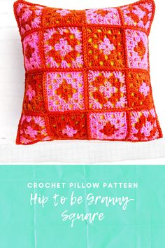 Hip to Be Granny Square Pillow pattern by Vickie Howell for YarnYAY!