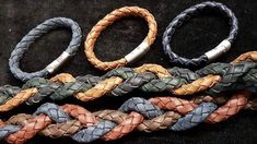 Our round braided leather cords can be used to make necklaces with a pendant, chokers, bolo ties or wrap bracelets. Finish these bracelets off with some of our stainless steel clasps and leather sliders.