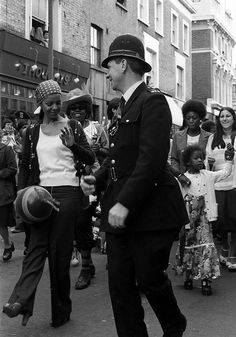 Notting Hill Carnival 1970's no matter what life time, police were always nice to me.
