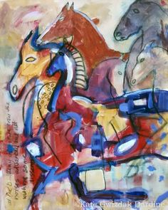 The Advance - acrylic on canvas by Kate Gwizdak Dardine. Equis Art Gallery.