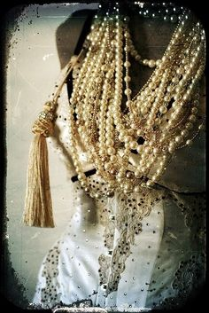 For the love of pearls  Beads, tassels, glitter oh my!!!