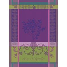 Myrtilles Violet Kitchen Towel 22 x 30 in | Gracious Style