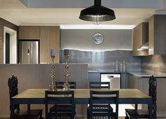 Gentlemen | Kitchen | Marble | Dusted Moss | James Mudge | Copper Table | Dining | Oak | Apartment | Interior design | Etienne Hanekom Interiors