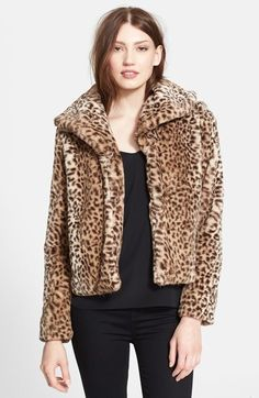 $248, Truth Pride Leopard Print Faux Fur Crop Jacket. Sold by Nordstrom. Click for more info: http://lookastic.com/women/shop_items/159844/redirect