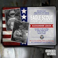 Eagle Scout Court of Honor Invitation: Flag by DigileachDesigns