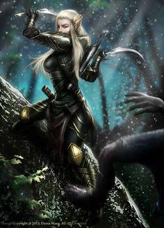 Female Elf Warrior Gallery I Fantasy Kunst, 3d Fantasy, Fantasy Women, Medieval Fantasy, Fantasy Girl, Fantasy Artwork, Dark Fantasy, Elf Warrior, Fantasy Warrior