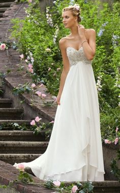 Shop Morilee's Morilee Bridal Alençon Lace Wedding Dress on Delicate Chiffon. Wedding Dresses and Bridal Gowns by Morilee designed by Madeline Gardner. Stunning Alencon Lace Wedding Dress on Delicate Chiffon Wedding Dress Necklines, Wedding Dress Chiffon, Sweetheart Wedding Dress, Cheap Wedding Dress, Wedding Dress Styles, Bridal Dresses, Wedding Gowns, Bridesmaid Dresses, Prom Dresses