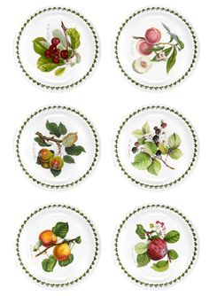 PORTMEIRION Set of 6 Pomona Dinner Plates