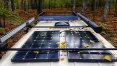 DIY solar panel setup guide for a campervan conversion or RV! Learn how to power your van with solar electricity, where to place panels on your camper, the best type of solar, how many to get and how to install. This guide tells you everything yo