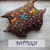 PATTERN stuffed owl pillow primitive