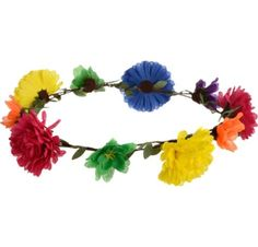 60s Hippie Flower Headwreath - Party City                                                                                                                                                                                 More