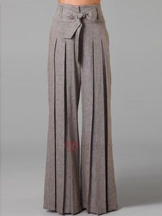 #AdoreWe #TideBuy TideBuy Low Waisted Wide Leg Pure Color Womens Pants - AdoreWe.com