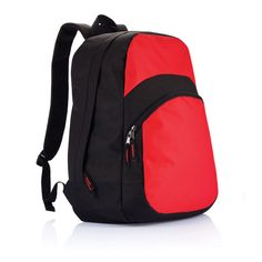 Brooklyn backpack. 600D backpack with front zipper closure pocket and one main compartment.