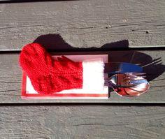 Garnpakke - Bestikksokk Rød/Hvit Bestikksokk [] - 90,00kr : Ullkurven, Velkommen til vår nettbutikk
