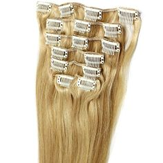 20inch Long Straight 1822 Mix Blonde 100 Human Hair Clip in Extension 7pcs He07 >>> Check out the image by visiting the link.Note:It is affiliate link to Amazon.
