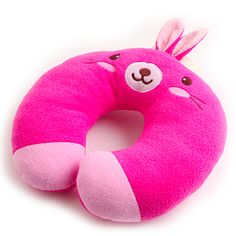 Bunny Neck Pillow Small Pillows, Kids Pillows, Animal Pillows, Sewing Pillows, Neck Pillow, Sewing Toys, Traveling With Baby, More Cute, Floor Pillows