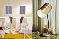 Luminárias feitas com latas Via Reciclagem, Jardinagem e Decoração
