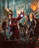 Get This Special Offer #7: THE AVENGERS 10x Chris Evans Robert Downey Jr. Scarlett Johansson Autographed 8x10 inch Photo with picture from signing MINT