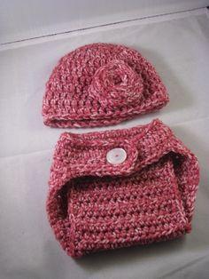 Crochet Korner Crochet Beanie Hat With Rose And by CrochetKorner, $20.00