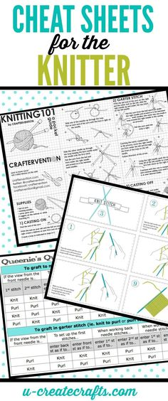 We've had quite a few requests for Cheat Sheets for Knitters — due to the popularity of our...