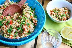 Zilvervliesrijstsalade met tonijn en geroosterde paprika - Francesca Kookt