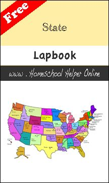 lapbook template suitable for any US state
