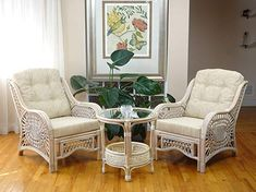 Malibu Rattan Wicker Living Room Set 3 Pieces White Wash Coffee Table 2 Lounge Chairs w/cream cushions >>> To view further for this item, visit the image link-affiliate link. Wicker Couch, Wicker Headboard, Wicker Bedroom, Wicker Table, Wicker Chairs, Wicker Furniture, Lounge Chairs, Wicker Baskets, Wicker Dresser