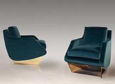 AD100 designer William T. Georgis debuts dramatic new furniture at New York's Maison Gerard gallery Gebogenes Sofa, Sofa Furniture, Luxury Furniture, Modern Furniture, Furniture Design, Custom Furniture, Furniture Dolly, Furniture Outlet, Sofa Design