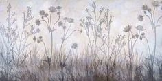 Wildflowers Lining the Trail -  Silver Lavender -             Wall Mural & Photo Wallpaper -           Photowall