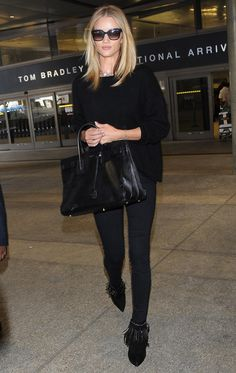 Rosie Huntington-Whiteley arrives at Los Angeles International Airport in America - 1 February 2015